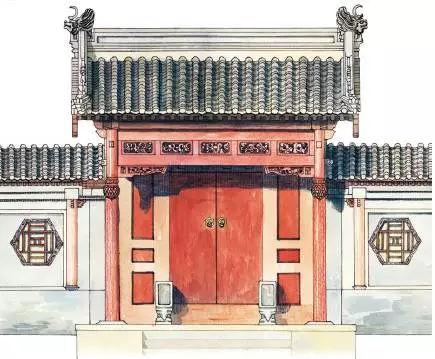 """图说中国古建筑中的""""门"""""""